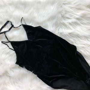Velvet Choker Bodysuit